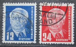 Poštovní známky DDR 1952 Prezident Pieck Mi# 323-24