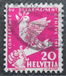 Poštovní známka Švýcarsko 1932 Holubice na zlomeném meèi Mi# 252