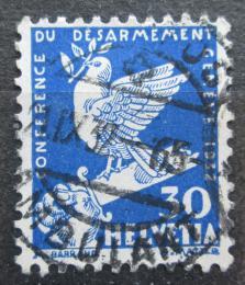 Poštovní známka Švýcarsko 1932 Holubice na zlomeném meèi Mi# 253