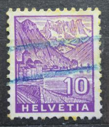 Poštovní známka Švýcarsko 1934 Zámek Chillon na Ženevském jezeøe Mi# 272