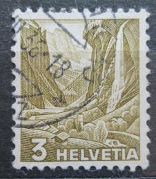 Poštovní známka Švýcarsko 1936 Vodopády Staubbach Mi# 297