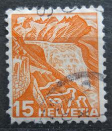 Poštovní známka Švýcarsko 1936 Rhónský ledovec Mi# 300