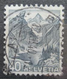 Poštovní známka Švýcarsko 1936 Alpské jezero Mi# 305