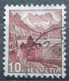 Poštovní známka Švýcarsko 1939 Zámek Chillon na Ženevském jezeøe Mi# 363 a