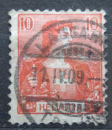 Poštovní známka Švýcarsko 1907 Helvetia Mi# 98