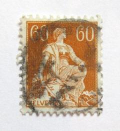 Poštovní známka Švýcarsko 1918 Helvetia Mi# 140