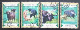 Poštovní známky Guinea 2015 Buvol africký Mi# 10942-45 Kat 20€