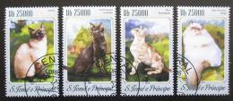 Poštovní známky Svatý Tomáš 2014 Koèky Mi# 5830-33 Kat 10€