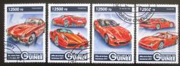 Poštovní známky Guinea 2017 Ferrari Mi# 12356-59 Kat 20€