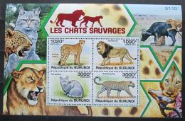 Poštovní známky Burundi 2011 Koèkovité šelmy Mi# Block 157