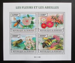 Poštovní známky Burundi 2013 Vèely a kvìtiny Mi# 3288-91 Kat 10€
