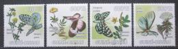 Poštovní známky Guinea-Bissau 2009 Motýli a léèivé rostliny Mi# 4127-30 Kat 9.50€