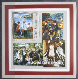 Poštovní známka Guinea-Bissau 2001 Umìní, Pierre-Auguste Renoir Mi# 1627 Block
