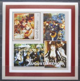 Poštovní známka Guinea-Bissau 2001 Umìní, Pierre-Auguste Renoir Mi# 1628 Block