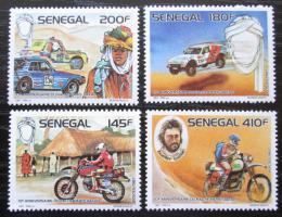 Poštovní známky Senegal 1988 Rallye Paøíž-Dakar, 10. výroèí Mi# 965-68 Kat 12€