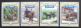 Poštovní známky Sierra Leone 2016 Koòské povozy Mi# 7848-51 Kat 11€