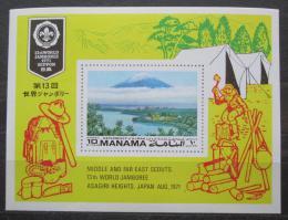 Poštovní známka Manáma 1971 Setkání skautù Mi# Block 111 A Kat 7€