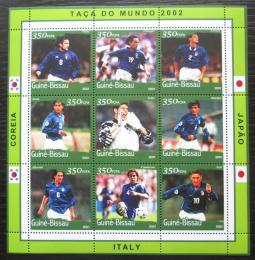 Poštovní známky Guinea-Bissau 2001 MS ve fotbale Mi# 1379-87 Kat 12€