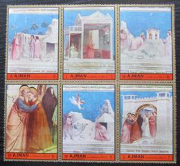 Poštovní známky Adžmán 1972 Umìní, vánoce Mi# 2112-17 Kat 6€