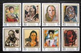 Poštovní známky Adžmán 1971 Umìní, Alexander Rutsch Mi# 702-09