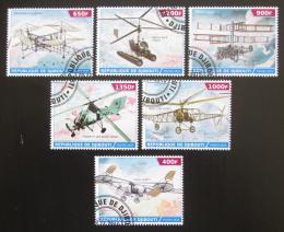 Poštovní známky Džibutsko 2015 Historická letadla Mi# N/N