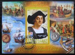 Poštovní známka Pobøeží Slonoviny 2012 Kryštof Kolumbus, plachetnice Mi# N/N