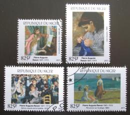 Poštovní známky Niger 2015 Umìní, Pierre-Auguste Renoir Mi# 3702-05 Kat 24€
