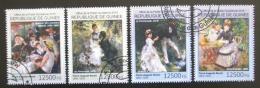 Poštovní známky Guinea 2014 Umìní, Pierre-Auguste Renoir Mi# 10742-45 Kat 20€