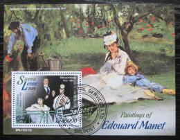 Poštovní známka Sierra Leone 2019 Umìní, Edouard Manet Mi# N/N
