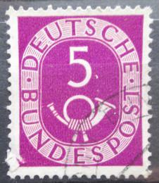 Poštovní známka Nìmecko 1951 Poštovní trubka Mi# 125