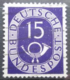 Poštovní známka Nìmecko 1951 Poštovní trubka Mi# 129