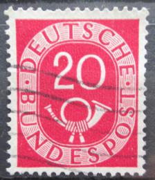 Poštovní známka Nìmecko 1951 Poštovní trubka Mi# 130