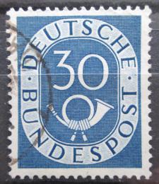 Poštovní známka Nìmecko 1951 Poštovní trubka Mi# 132