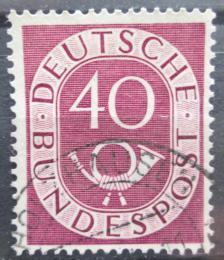 Poštovní známka Nìmecko 1951 Poštovní trubka Mi# 133