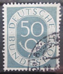 Poštovní známka Nìmecko 1952 Poštovní trubka Mi# 134