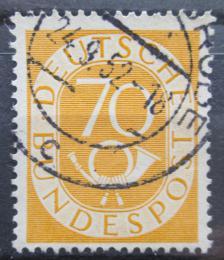 Poštovní známka Nìmecko 1952 Poštovní trubka Mi# 136 Kat 19€
