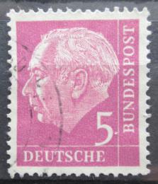 Poštovní známka Nìmecko 1954 Prezident Heuss Mi# 179 x W