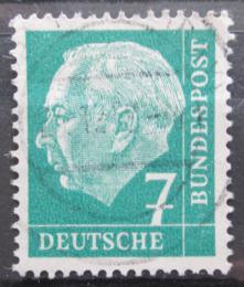 Poštovní známka Nìmecko 1954 Prezident Heuss Mi# 181 x W