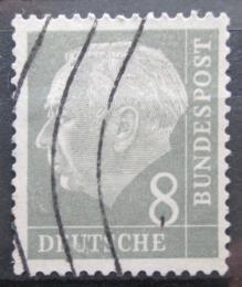 Poštovní známka Nìmecko 1954 Prezident Heuss Mi# 182 x W