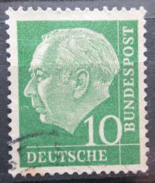 Poštovní známka Nìmecko 1954 Prezident Heuss Mi# 183 x W