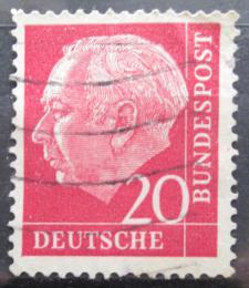 Poštovní známka Nìmecko 1954 Prezident Heuss Mi# 185 x W