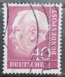 Poštovní známka Nìmecko 1954 Prezident Heuss Mi# 188 x W