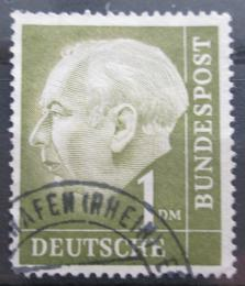 Poštovní známka Nìmecko 1954 Prezident Heuss Mi# 194 x X