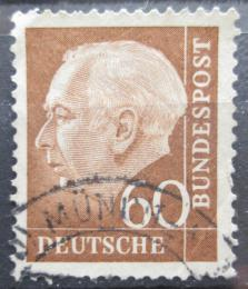 Poštovní známka Nìmecko 1957 Prezident Heuss Mi# 262 x