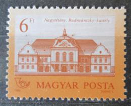 Poštovní známka Maïarsko 1986 Zámek rodiny Rudnyánszky Mi# 3858