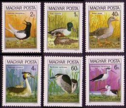 Poštovní známky Maïarsko 1980 Ptáci Mi# 3451-56