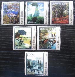 Poštovní známky Guinea-Bissau 2001 Umìní, Claude Monet Mi# 1612-17 Kat 8€