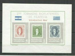 Poštovní známky Argentina 1966 Filatelistická výstava Mi# Block 16