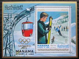 Poštovní známka Manáma 1970 ZOH Sapporo Mi# Block 90 A Kat 15€