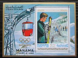 Poštovní známka Manáma 1971 ZOH Sapporo pøetisk Mi# Block 129 A Kat 15€
